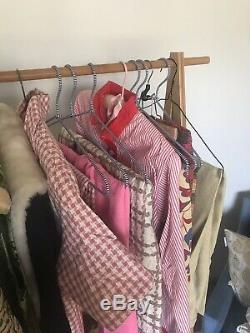 18 Pcs Vintage Lot 50s Mid Century Retro Dresses Tops Pants Blouses Party Skirts