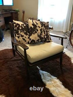 1950's Vintage Eames Era Danish Mid Century Modern Lounge Chair Walnut