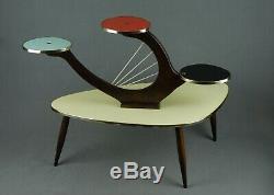 1950s PLANTSTAND Mid Century Danish Modern Plant Stand Vintage Eames 60s 70s Era