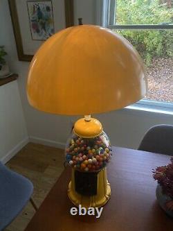 1970s Vintage Carousel Gumball Mushroom Midcentury Modern MCM lamp Light Rare
