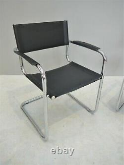 1990s VINTAGE ORIGINAL CANTILEVER CHAIR MADE ITALY MIES VAN DER ROHE MID CENTURY