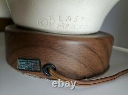 1 Vtg Mid Century Modern PLASTO plaster & wood Genie Table Lamp no shade 29
