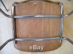1(von5) Vintage 60er Mauser Teak Stuhl Stahlrohr Stapelstuhl Mid Century Design