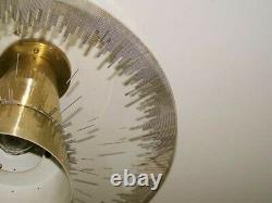 237 Vintage 50 60 Ceiling Light glass Fixture Mid-Century retro eames chandelier