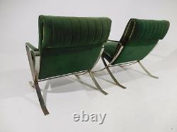 2 Vintage Bernhardt Flair Lounge Chairs 70's Mid Century Modern Baughman Style