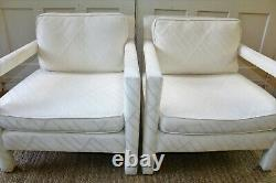 2 Vintage Bernhardt Flair Parson Lounge Chairs Mid Century Modern Baughman Style