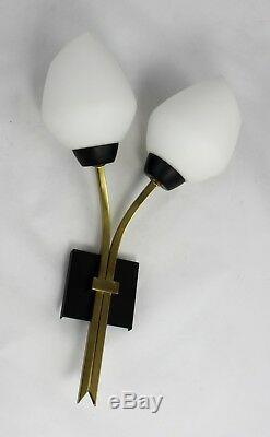 2 x Original 50er/60er Jahre Vintage Lampe Wandlampen Mid Century Wall lamp