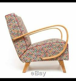 2x Halabala Czech designed armchair Art deco mid century vintage fully restored