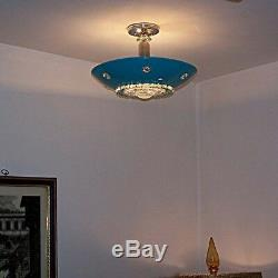 338b 50s 60s Vintage Ceiling Light Lamp Fixture atomic midcentury eames 1 of 3