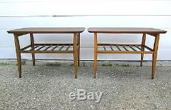3-Pc SET Vtg Lane Mid Century Danish Modern Wood Coffee End Table Laminate Top