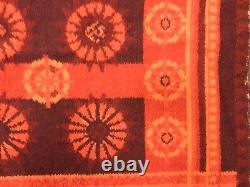 4' X 6' Vintage 1960s Danish Ege Rya Gallery Shag Orange Rug Mid Century Modern