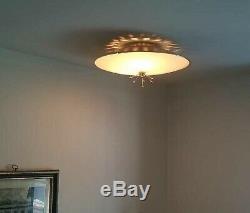 525b 50s 60's Vintage Ceiling Light Lamp Fixture atomic mid-century eames