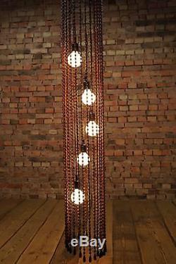 60er Deckenleuchte Lampe Vintage 60s Mid Century TEMDE Perlenlampe Modell 88