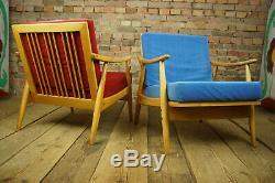 60er Designer Sessel Vintage Easy Lounge Chair Skandi Mid-Century Clubsessel 1/2