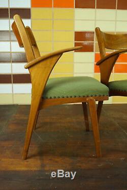 60er Vintage Stuhl Armlehnstuhl Schreibtisch Mid-Century Retro Holz 50er 1//25