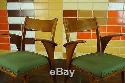 60er Vintage Stuhl Armlehnstuhl Schreibtisch Mid-Century Retro Holz 50er 1/25