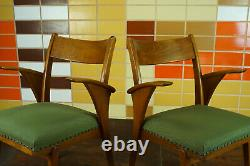 60er Vintage Stuhl Armlehnstuhl Schreibtisch Mid-Century Retro Holz 50er 1/8