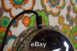 60er WANDLAMPE Bogenlampe Chrom Mid Century Desing 60s Lampe Leuchte Vintage 1/2