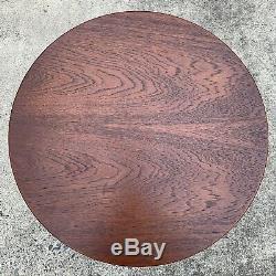 60s Early Bronze Warren Platner Knoll Walnut Top Side Table Vintage Mid Century