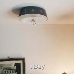 692b 50s 60's Vintage Ceiling Light Lamp Fixture atomic mid-century eames