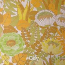 70s MOD FLORAL VINTAGE Original Wallpaper Misty Garden Mid Century 1960s 1970s