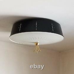 768b 50s 60's Vintage Ceiling Light Lamp Fixture atomic mid-century eames