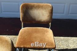 8 Knoll Gavina Breuer Cesca Vtg Mid Century Modern Chrome Leather Dining Chair