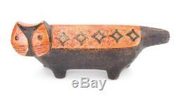Aldo Londi Bitossi Raymor Large Pottery Cat Figure Vintage MID Century Rare