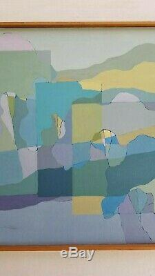 Ann Perry California Vintage Mid Century Modern Abstract 28 Large Painting MCM