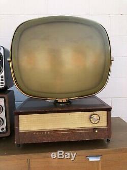Antique Mid Century Retro Atomic Space Age Vintage Television Philco Predicta TV