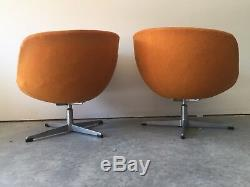 Auth Adrian Pearsall Club Lounges Swivel Chairs Vtg Mid Century Modern #3251-C
