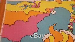 Awesome RARE Vintage Mid Century retro 60s 70s Peter Max psychedelic fabric! WOW