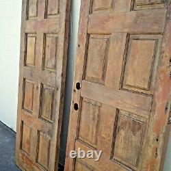Beautiful Mid Century California Carved Wood Double Doors Vintage Door Weathered