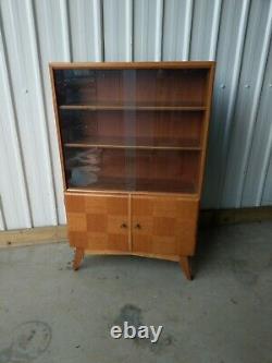 Beautility Vintage Retro MID Century Bookcase Display Cabinet Cupboard Delivery