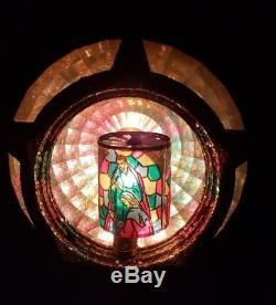 Bradford Christmas Tree Topper Nativity Vintage Mid Century Motion Light Orig Bx