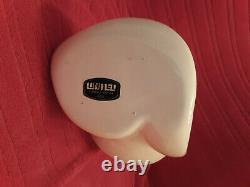 Cool Vintage Mid Century Modern Tall Abstract Vase White Sculpture Ceramic