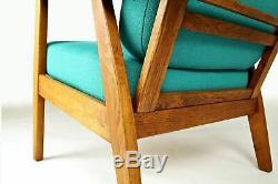 Danish Modern Furniture Armchair Teak & Oak 1950 Mid Century Vintage Hans Wegner