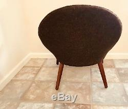Danish Modern Kurt Olsen teak lounge chair Denmark mid century vintage