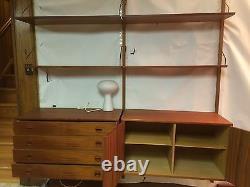 Danish Modern Mid Century Hansen Wall unit Cabinets System