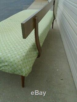 Daybed Trundle Twin Size BED Mid-century Modern Sofa Bentwood back MCM Eames era