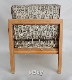 Drexel Wormley Vtg Mid Century Modern Wood Rope Lounge Side Chair Retro Dunbar