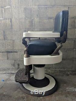 Emil j Paidar Vintage Barber Chair Old Salon Mid Century Cast Iron Antique