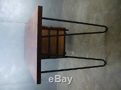 Exceptional Mid Century DESK Hairpin VTG Solid Walnut INDUSTRIAL Modern Design