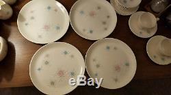 Grant Crest Tempo Vintage Mid Century China Atomic 1950s style dinnerware set