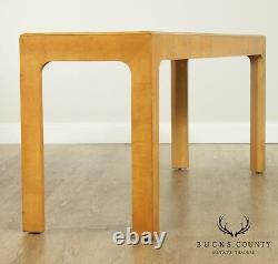 Henredon Scene Two Mid Century Modern Vintage Burl Wood Console Table