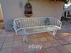 Homecrest Vintage Mid Century 50s 60s Atomic modern Era Iron sofa/loveseat L@@K