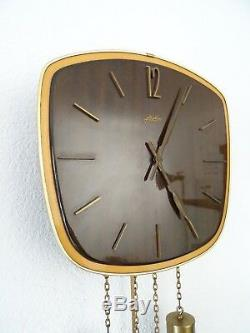 Junghans Vintage Design Mid Century 8 day Retro Wall Clock (Kienzle Hermle era)