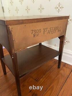 Kent Coffey Mid Century Modern Perspecta Walnut Pecan Nightstand Vintage MCM