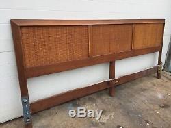 King Size Mid Century Cane Headboard Vintage