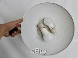 Kurt Versen Vtg Mid Century Modern Saucer Gooseneck Arm Floor Lamp Lightolier